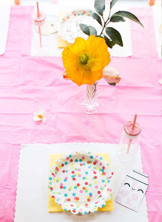 Colorful Floral Kids Birthday Party - Inspired by This