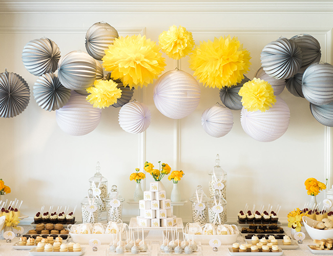 Grey Amp Yellow Elephant Baby Shower Inspired By This