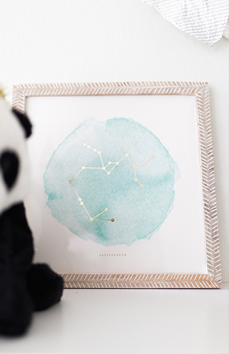 Yellow & Teal Geometric Nursery - Inspired by This