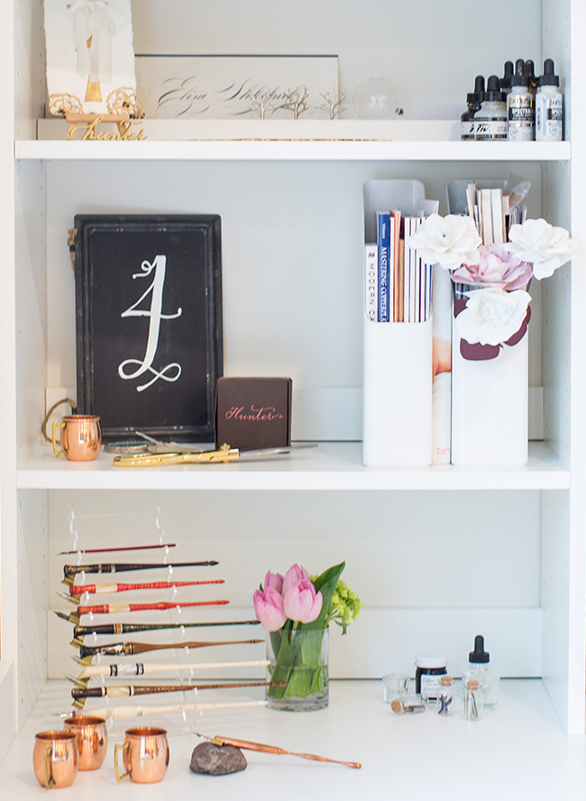 Eliza Gwendalyn's Calligraphy Studio Tour - Inspired by This