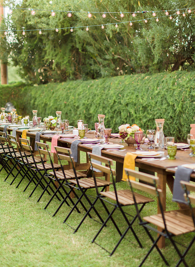 Colorful Outdoor Dinner Party - Inspired by This