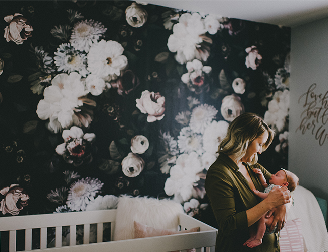 Moody Floral Wallpapered Nursery - Inspired by This