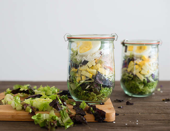 The Perfect Pack Ahead Salads for Work - Inspired by This