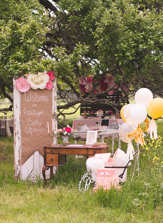 rustic pink farm baby shower inspired by this