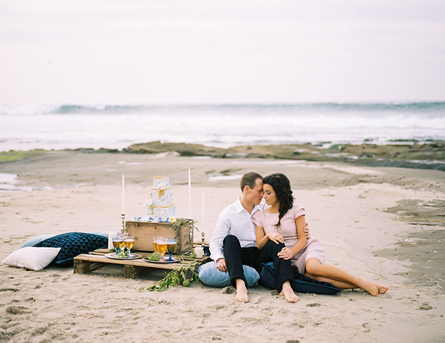 La Jolla Beach Engagement Session - Inspired by This