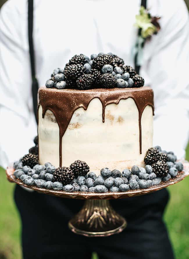 Moody Berry & Blue Wedding Inspiration - Inspired by This