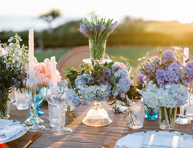 Peach & Blue Beachfront Wedding Inspiration  - Inspired by This