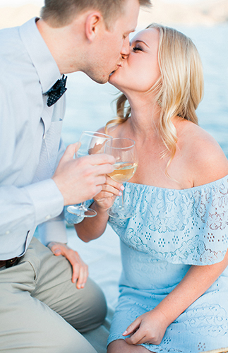 Lakeside Picnic Engagement Photos - Inspired by This
