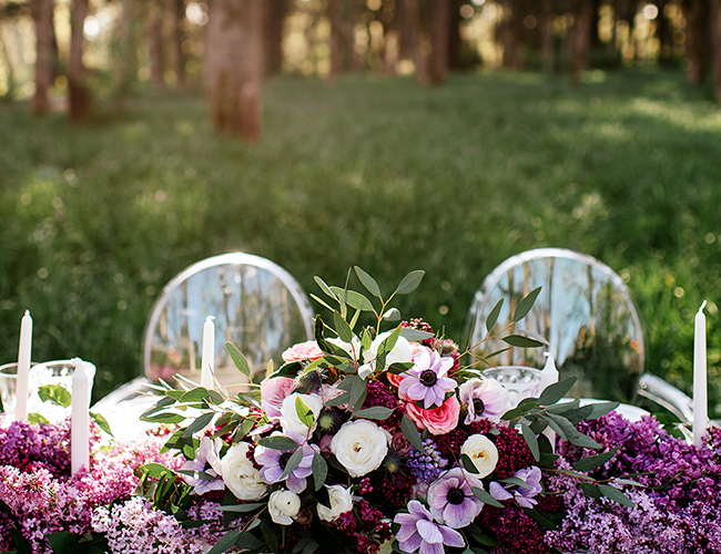 Lilac Flower Field Bridal Inspiration - Inspired by This