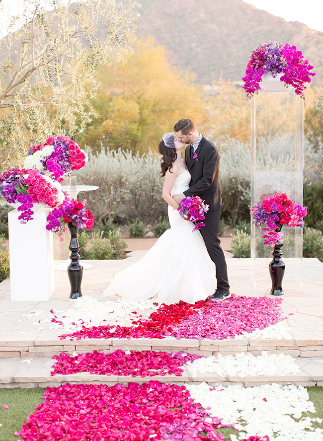 Modern & Vibrant Pink and Purple Wedding - Inspired by This