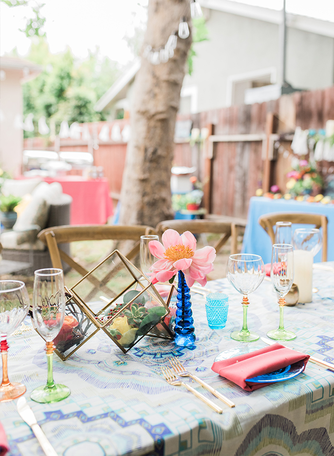 Colorful Backyard Baby Shower - Inspired by This