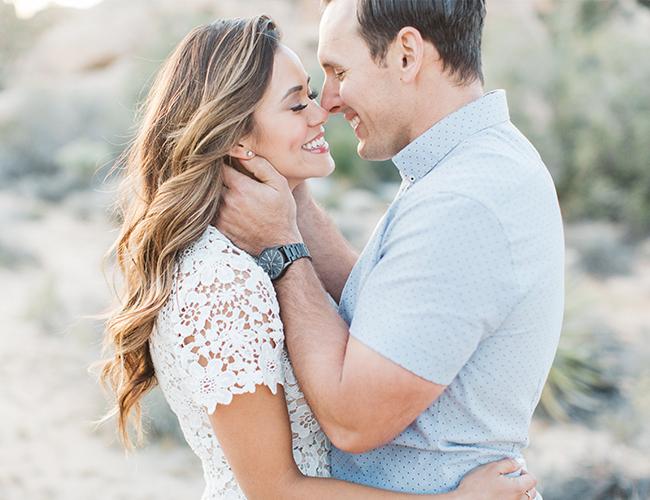 Brandi Milloy S Romantic Desert Engagement Session