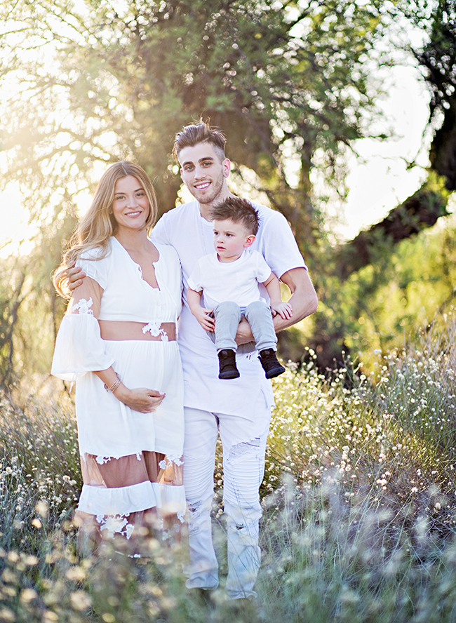 Fashionable Family Maternity Photos by a River - Inspired by This