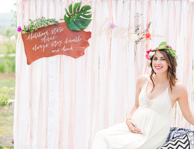 Bright Bohemian Outdoor Baby Shower - Inspired by This