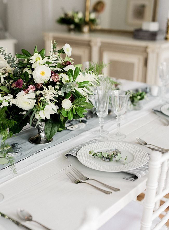 Silver & White Coastal Dinner Party - Inspired by This