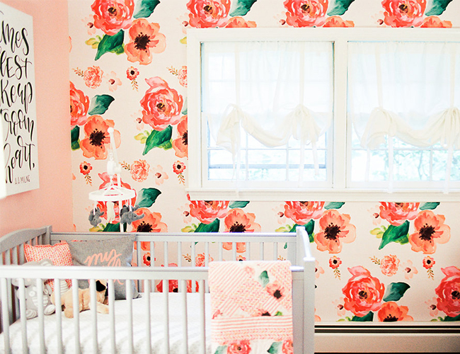 Grey & Pink Rose Nursery - Inspired by This