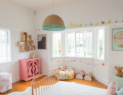 An Adorable Eclectic Bedroom for a Little Girl - Inspired by This