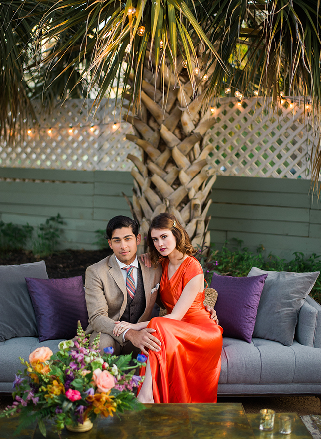 Red & Purple 1940's Wedding Inspiration - Inspired by This