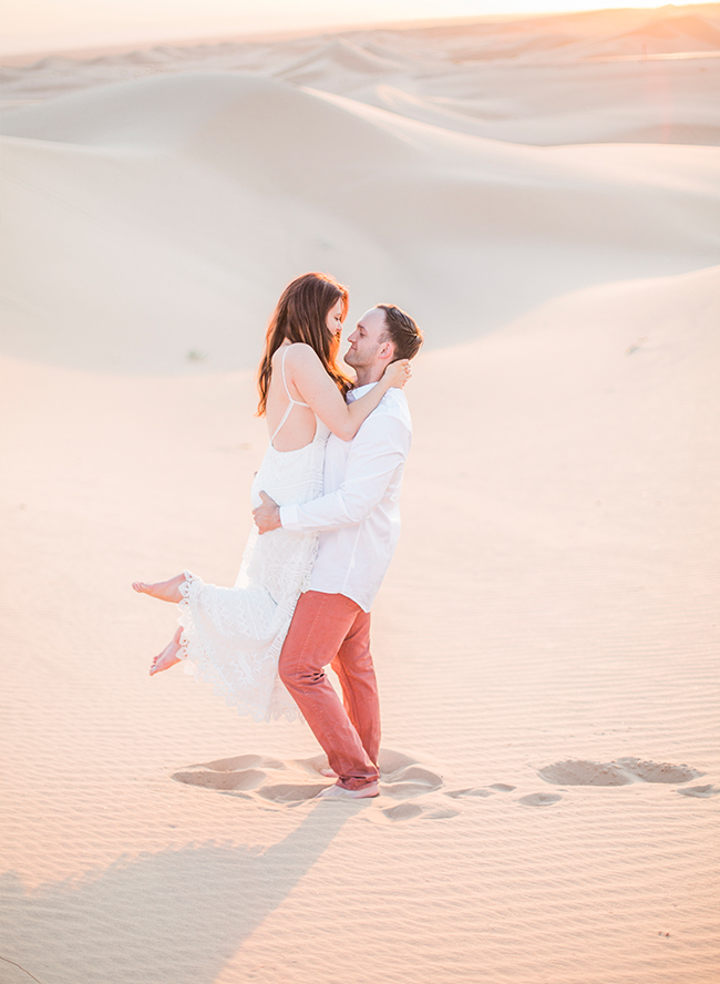 Sand Dune Engagement Photos - Inspired by This