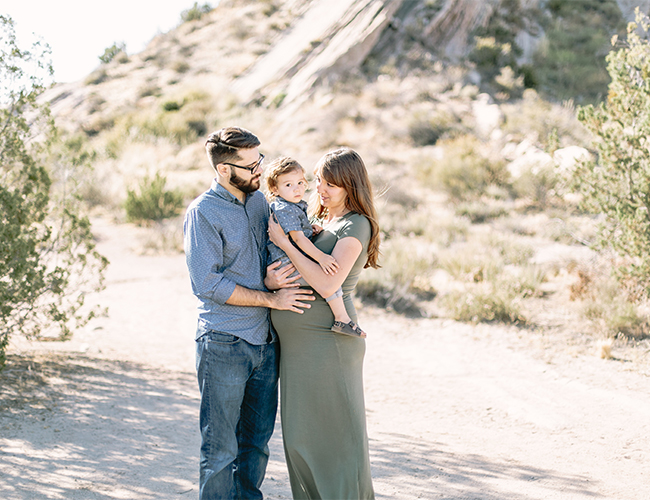 Desert Summer Maternity Photos - Inspired by This