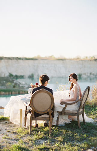 Airy Blue Seaside Elopement - Inspired by This