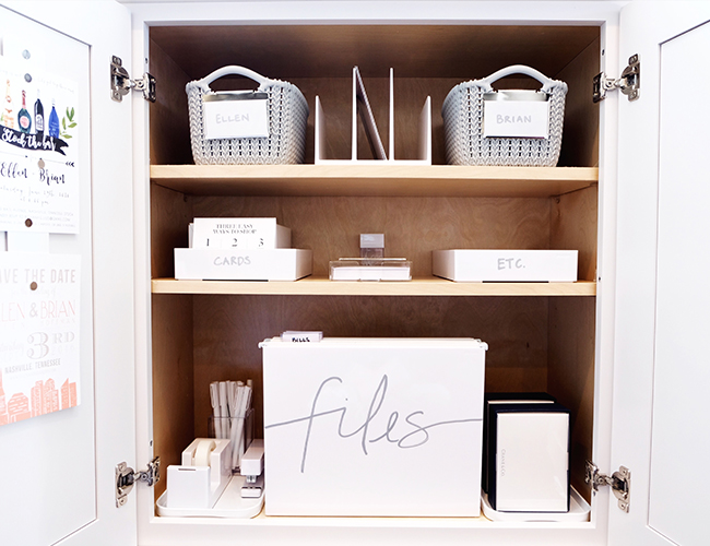 5 Steps to an Organized Office from The Home Edit - Inspired by This