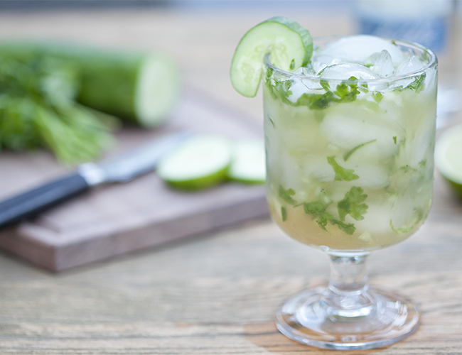 Cucumber Cilantro Margarita - Inspired by This