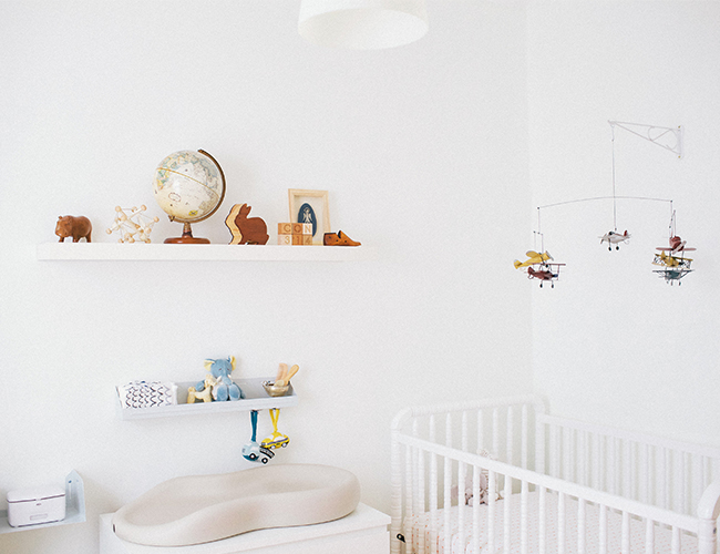 White Nursery with Wood Accents - Inspired by This