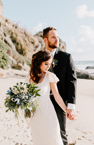 Sea Glass Inspired Wedding at the Beach - Inspired by This