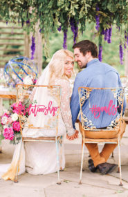 Pink & Blue Garden Wedding Inspiration -  Inspired by This