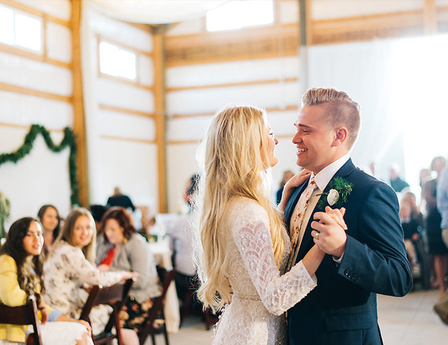 White & Gold Barn Wedding in the Woods - Inspired by This