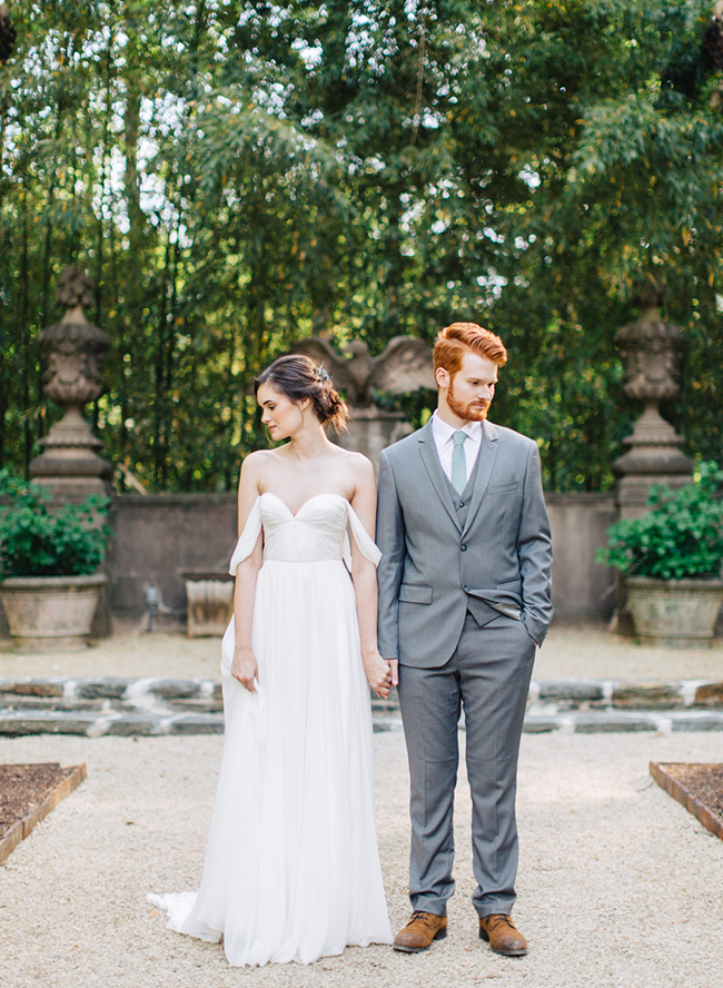 Romantic Peach Southern Wedding at The Swan House - Inspired by This