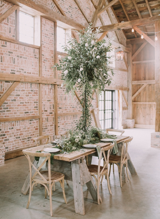 Ivory & Green Farmhouse Wedding Inspiration - Inspired by This