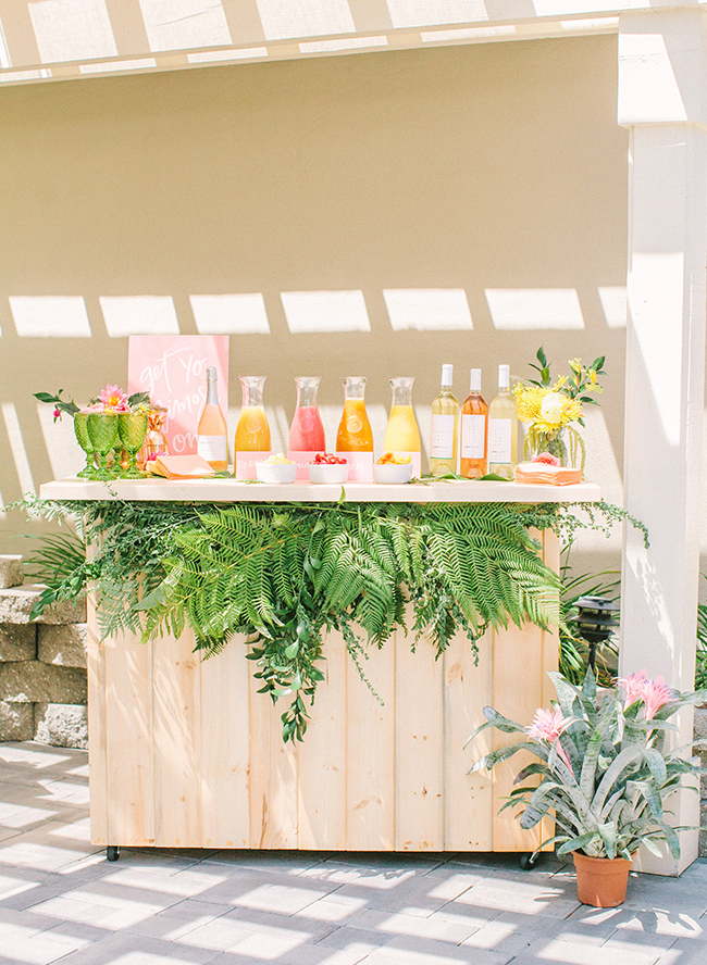Pink Amp Yellow Tropical Bridal Shower Brunch Inspired By This
