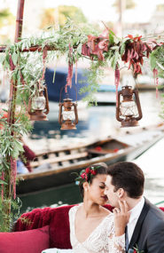 Romantic Gondola Wedding Inspiration for Fall - Inspired by This