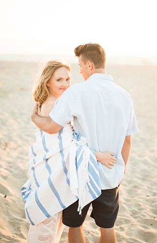 First Anniversary Photos on the Beach - Inspired by This