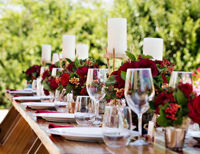 Chic Deep Red Wedding - Inspired by This