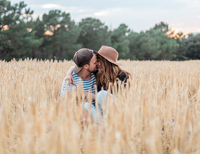 Countryside Engagement Photos in Barcelona, Spain - Inspired by This