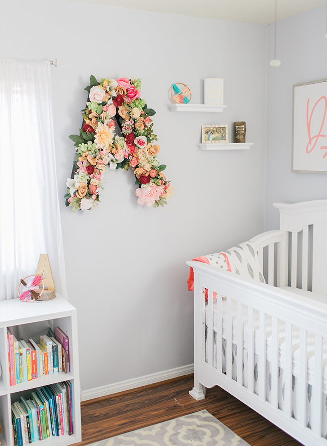 Girly Nursery with Bohemian Accents - Inspired by This