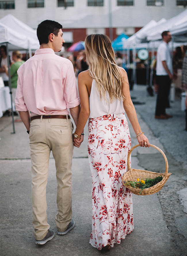 Casual Farmer's Market Engagement Session - Inspired by This