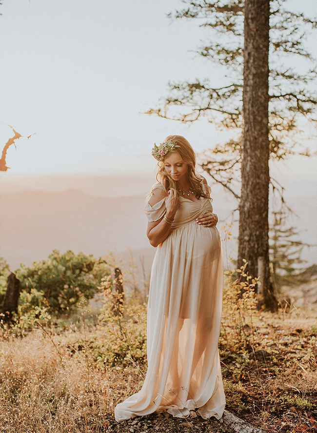 Mountain Maternity Photos at Sunset - Inspired by This