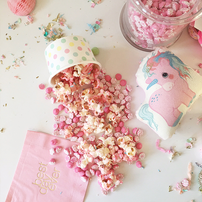 Pink Unicorn Popcorn Recipe - Inspired by This