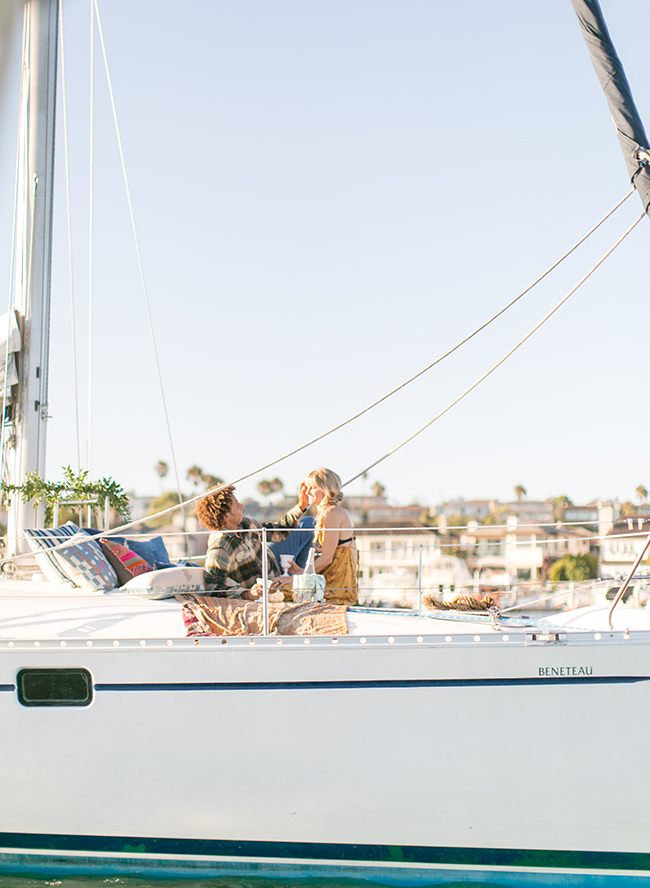 Sunset Sailboat Engagement Photos - Inspired by This