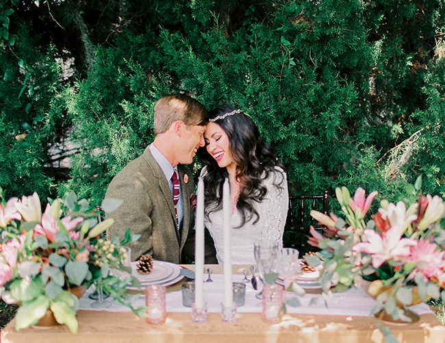 Intimate Fall Library Wedding - Inspired by This