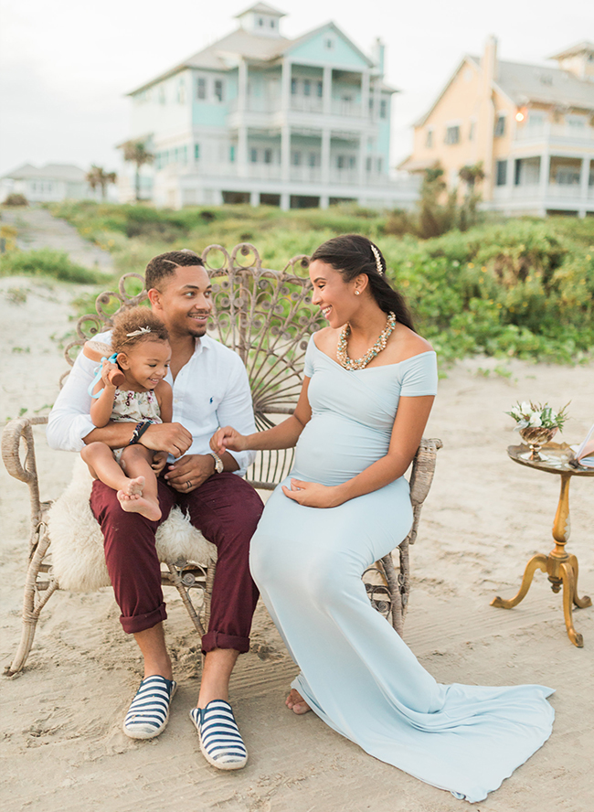 A Beachfront Babymoon Maternity - Inspired by This