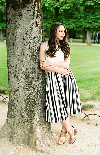 Parisian Engagement Photos in Luxembourg Garden - Inspired by This