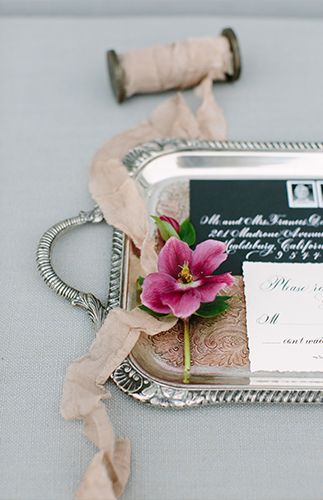 Rustic Steel Grey and Mauve Wedding Inspiration - Inspired by This