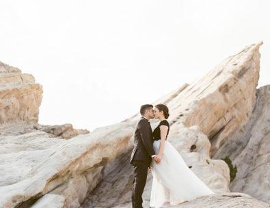 Romantic Black & White Desert Elopement - Inspired by This