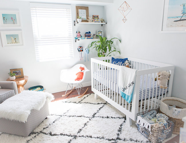 Inspired By This Cool Blue Modern Nursery