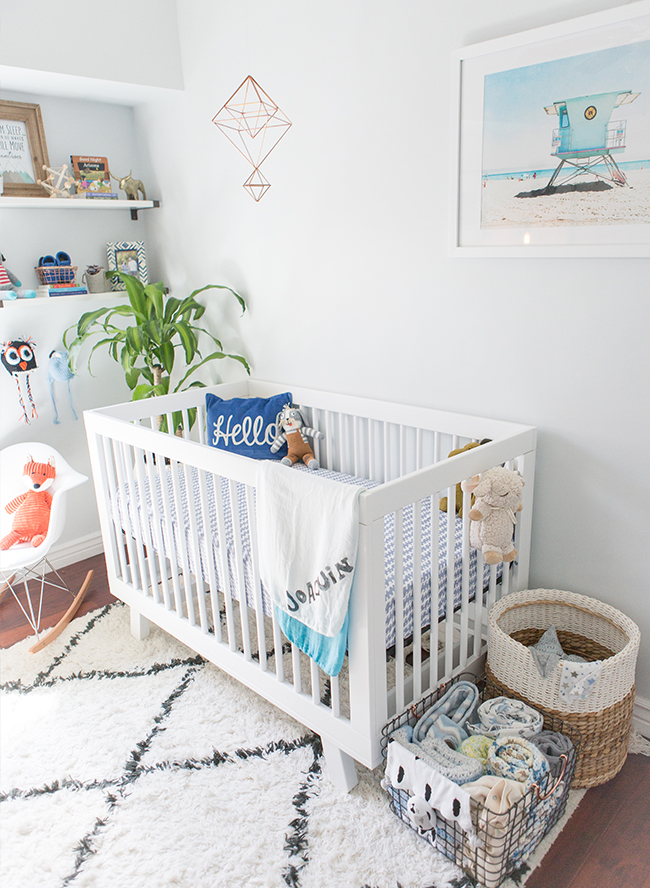 Cool Blue Modern Nursery - Inspired by This